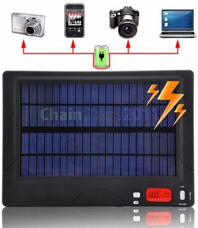 High Capacity Multiple Tips Solar Charger and Battery For Phone Netbook Notebook Camera(20,000mAh)