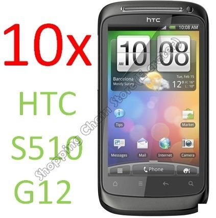 10pcs Clear Screen Protectors Film For HTC Desire S S510 G12(Not For HTC Desire G7)
