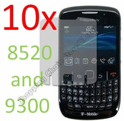 10pcs Screen Film Cover Protector for Blackberry 8520 and 9300  Curve