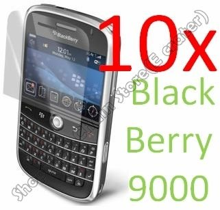10psc Screen Film Protector Cover for BlackBerry Bold 9000