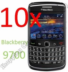 10pcsCLEAR SCREEN PROTECTORS FOR BLACKBERRY BOLD 9700
