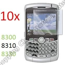 10pcs SCREEN FILM PROTECTOR COVER for BlackBerry 8300 8310 8330 CURVE