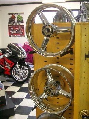 01-02 GSXR 1000 CHROME RIMS