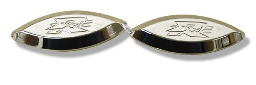 KAWASAKI ZX 12R CHROME PLATED MIRROR PLATES PART # CA2985)