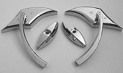 Kawasaki Custom Chrome Mirrors - ZX12R, ZX14R, Ninja