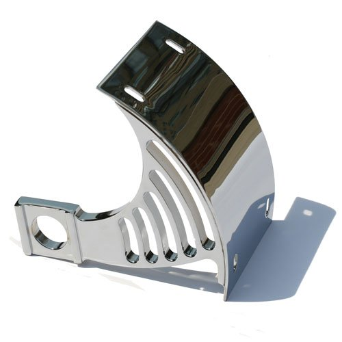 KAWASAKI ZX6, ZX7, ZX9 (98-05), ZX12 (00-05) CHROME LICENSE PLATE BRACKET FOR SWINGARM