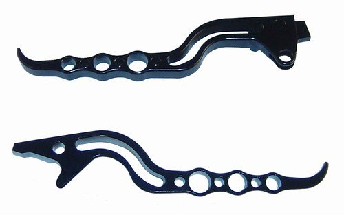 ANODIZED BLACK  LEVERS SET FOR SUZUKI TL 1000R (97-01) HAYABUSA (99-07(PART # A3145AB-A3146AB