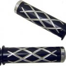 HONDA ANODIZED BLACK STRAIGHT GRIPS WITH CRISS CROSS DESIGN & FLAT ENDS