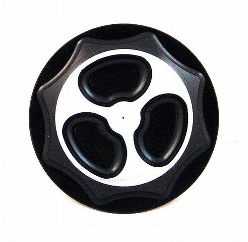 SUZUKI GAS CAP (4 BOLT BRACKET) ANODIZED BLACK FITS 99-07 HAYABUSAPART # A3665BL)