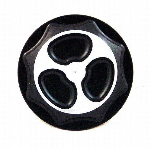 SUZUKI GAS CAP (4 BOLT BRACKET) ANODIZED BLACK FITS 99-07 HAYABUSAPART # A3665BL)