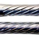 HONDA CHROMED STRAIGHT GRIPS WITH SWIRLED DESIGN & POINTED ENDS