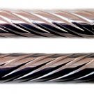 HONDA CHROMED STRAIGHT GRIPS WITH SWIRLED DESIGN & FLAT ENDS