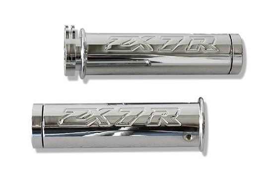 KAWASAKI ZX7R (96-03) CHROME STRAIGHT BILLET GRIPS (PART # CA2975)