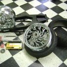 01-14 GSXR 600/750/1000 BLACK FINISH 240 KIT CHROME RC WHEELS