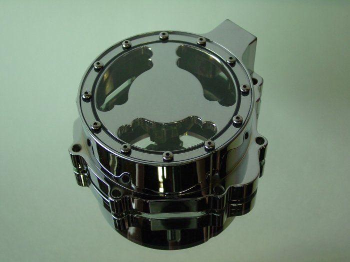 Suzuki GSXR Chrome See-Thru Billet Stator Cover