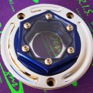 CLEAR GAS CAP ANADIZED BLUE