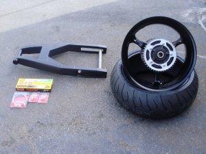 black 240 factory widened wheel kit