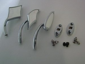 Honda CBR 1000, 954, 929 and RC51 Mirror Blockoff Plates and Mirrors 070306-001H