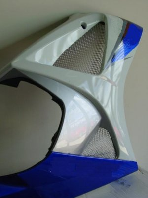2007-2008 Suzuki GSXR 1000 Chrome Fairing Screens