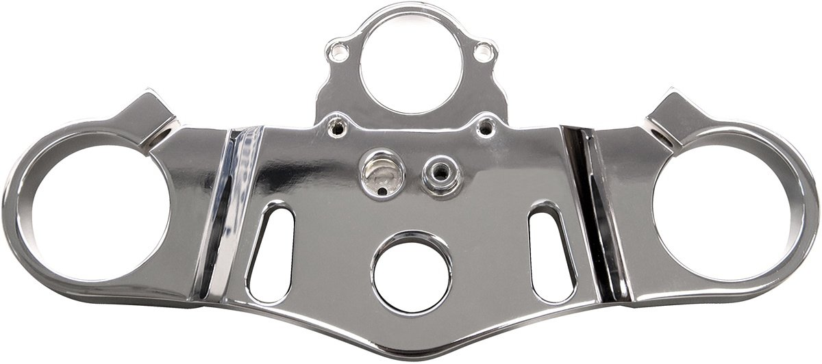 "HONDA CBR 1000RR (04-07) TRIPLE CHROMED TOP TREE CLAMP WITH ""LRC"" ENGRAVED (PART # CA3296"