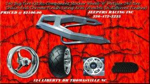 HAYABUSA OR GSXR CHROME 240 KIT WITH CHROME RC STOCKER WHEEL