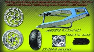 HAYABUSA & GSXR Chrome 240 Wide Tire Kit WITH RC CHROME WHEELS