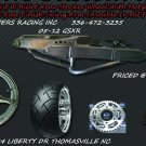 300 Wide Tire Kits with GSXR Replica Wheel & Raw Swing Arm