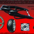 Black Powder Coated 300 Wide Tire Kits with GSXR Replica Wheel