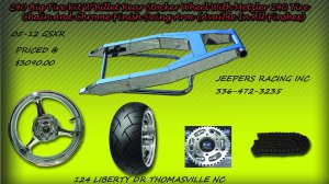Chrome 240 Wide Tire Kit with GSXR Replica Wheel