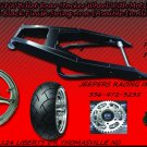 Black Powder Coated 240 Wide Tire Kits with GSXR Replica Wheel