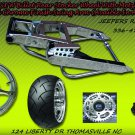 Chrome 330 Wide Tire Kit with GSXR Replica Wheel