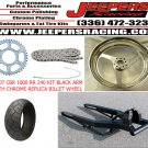 CBR 1000RR 240 TIRE KIT BLACK ARM CHROME REPLICA WHEEL