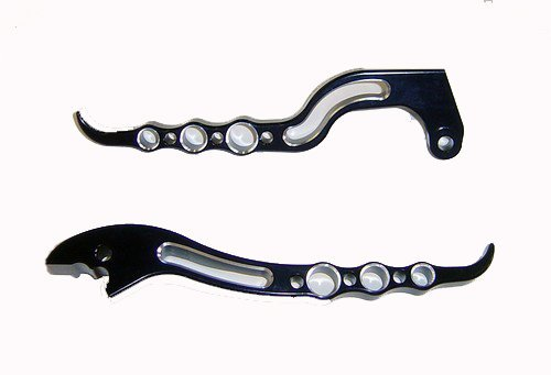 HONDA CBR 600RR (07-12) ANODIZED BLACK  LEVERS SET PART # A3016AB/A322OAB)