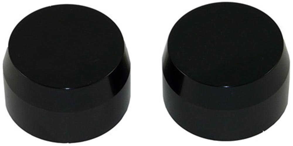 KAWASAKI ZX14 (06) ANODIZED BLACK FORK CAPS PART # A3058AB)