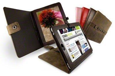 Tuff-Luv Bi-Axis� Saddleback Leather case cover for Apple iPad & 3G / Wifi