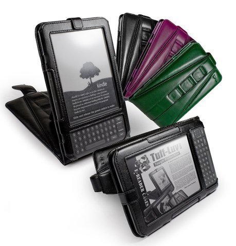 Tuff-Luv Tri-Axis� Leather Case & Stand for Amazon Kindle 3 - Black