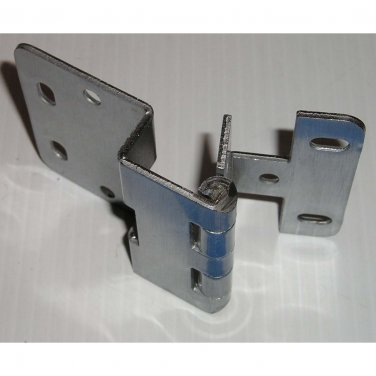 "H760-45 ANSI BIFMA Grade 1 Institutional Hinge, 5 Knuckle, Brushed Chrome, 1/2"" Overlay"