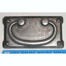 "Bail Drop Pull On Backplate Grey Iron Finsh 3"" CTC for Cabinet Door / Drawer Handle"