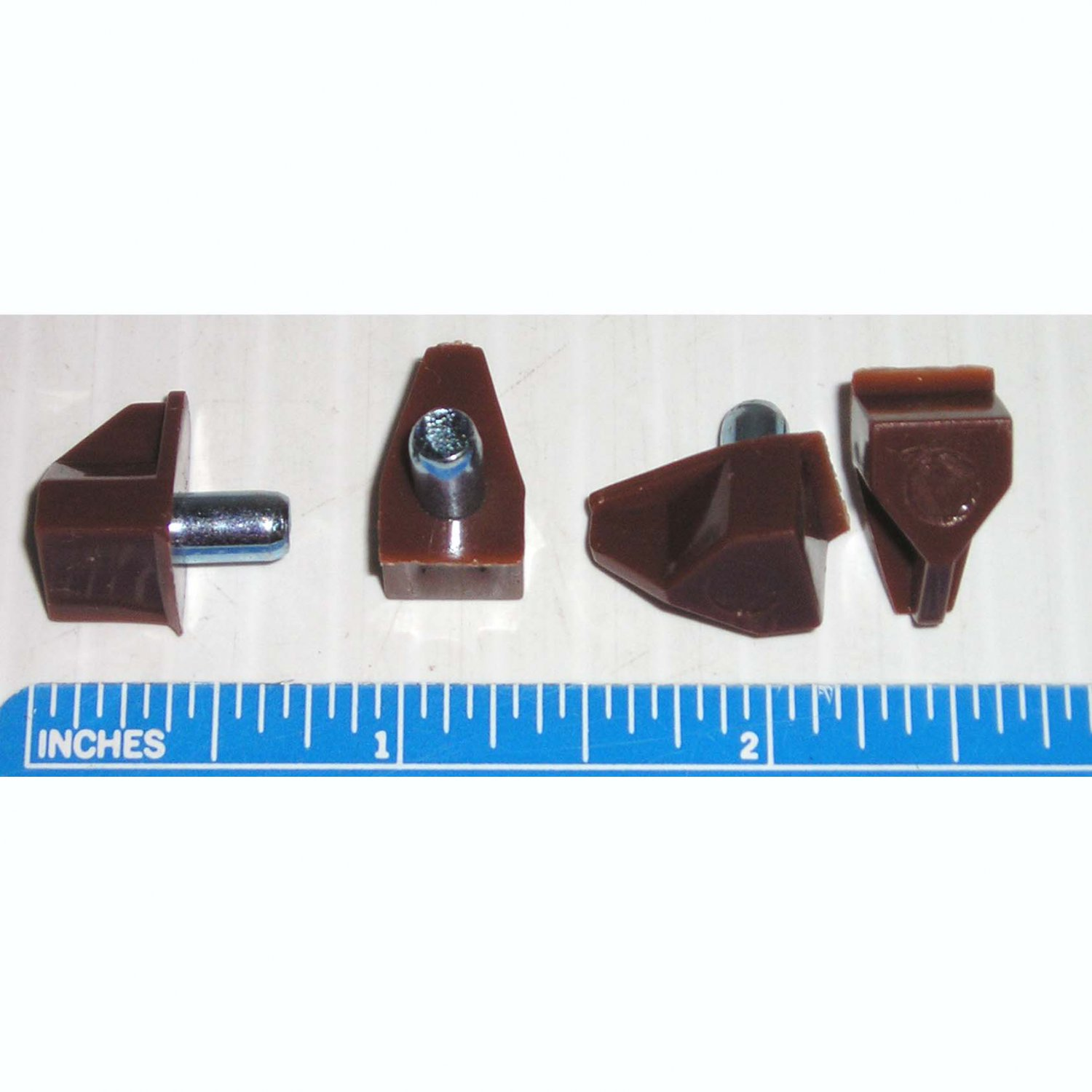 5MM Steel Post with Brown Plastic Shelf Support Pin - Rest - Peg (8 Pack)