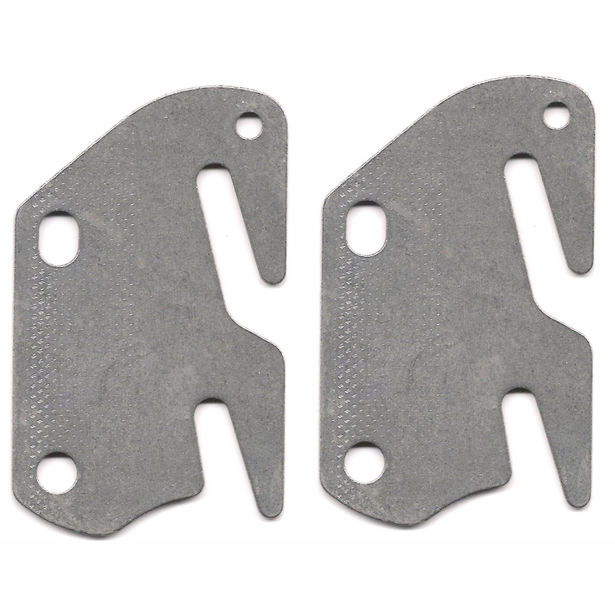 2 bed rail double hook plates fits 2 bracket or bed post flat 13 ga steel made in usa