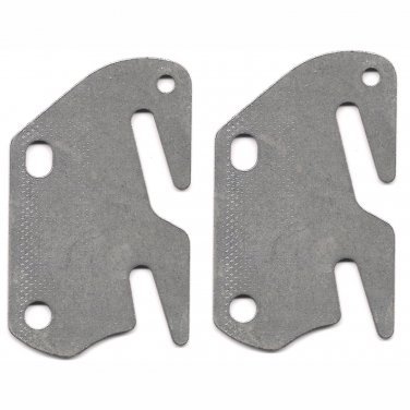 "2 Bed Rail Double Hook Plates Fits 2"" Bracket or Bed Post - Flat 13 ga. Steel - Made In USA"