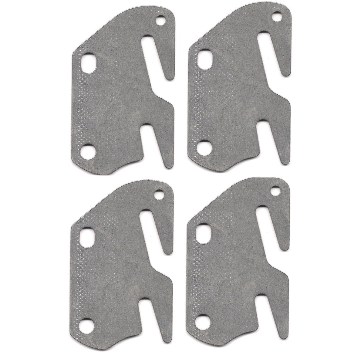4 bed rail double hook plates fits 2 bracket or bed post