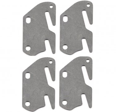 "4 Bed Rail Double Hook Plates Fits 2"" Bracket or Bed Post - Flat 13 ga. Steel - Made In USA"