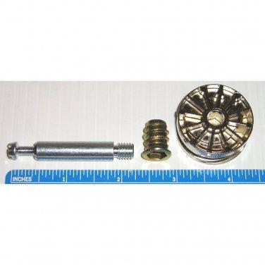 35mm Cam Disc Lock Furniture Connector Kit- 8mm x 48.5mm Dowel + Threaded Insert