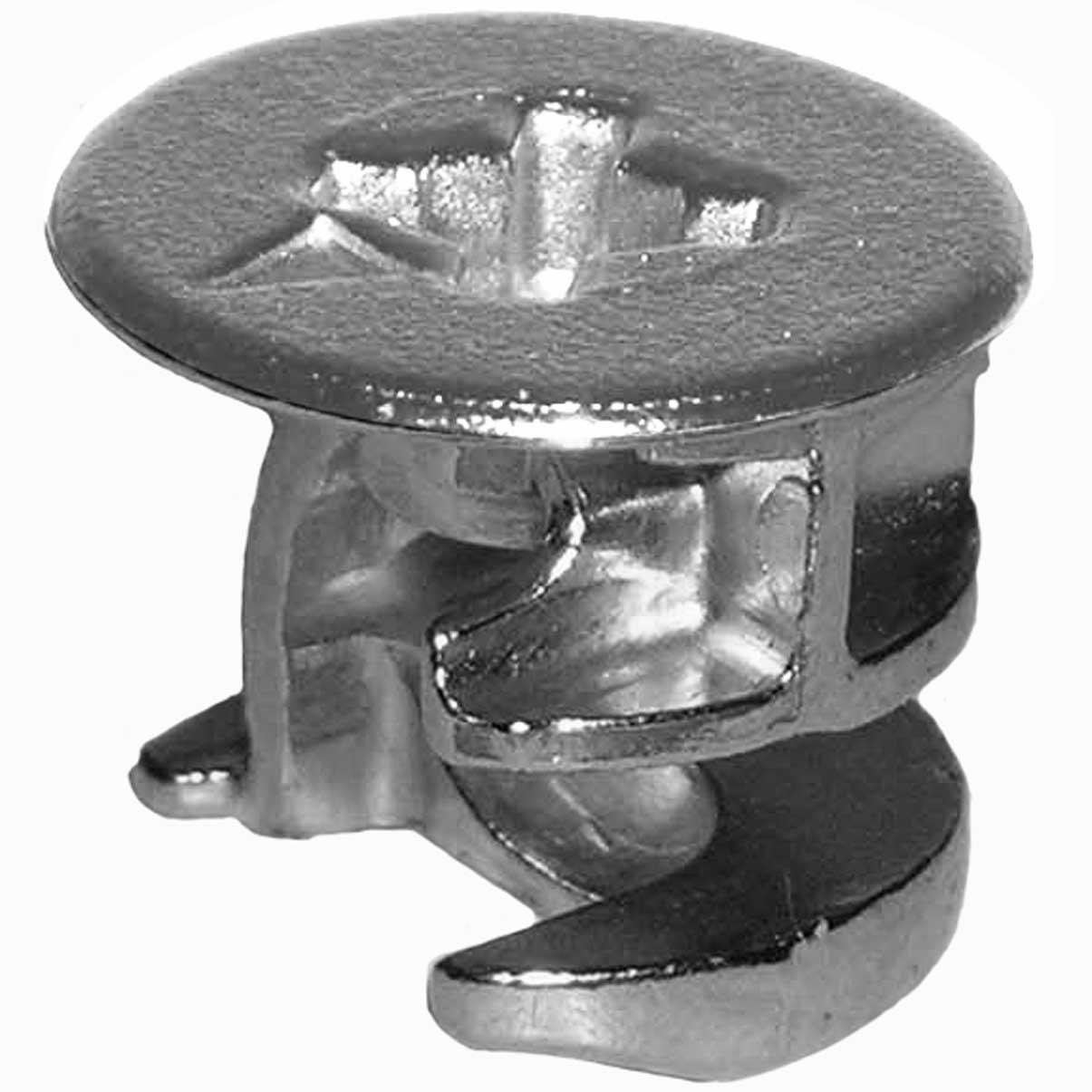 15mm X 12mm Rimmed Cam Lock Fasteners 4 Pk Furniture