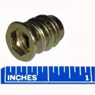 8mm M8 x 1.25 Threaded Wood Screw Thread Inserts with Flange 17mm Long 25 Pack
