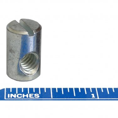 """1/4"""" x 20 TPI Barrel Nuts 5/8"""" High 3/8"""" Diameter Cross Dowel Fastener"""