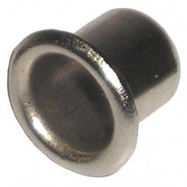 "1/4"" Nickel Sleeve Grommet for Shelf Support Pin - Rest - Peg (100 Pack)"