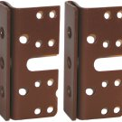 "Headboard / Bed Post Brackets - 2 Pack - For Double Hook Bed Plate and Rails 3-3/4"" x 1-3/4"""