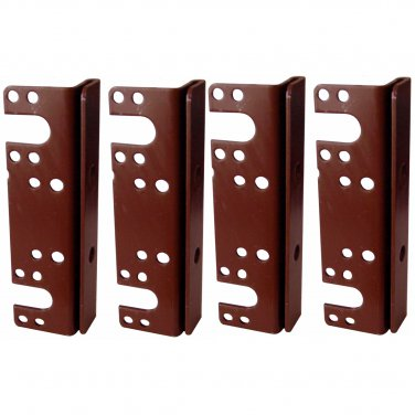 """Headboard / Bed Post Bracket For Double Hook Bed Plate and Rails 6"""" x 1-3/4"""" (4 Pack)"""